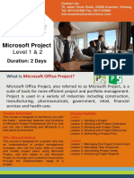 Brochure Microsoft Project L1 L2