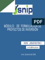 Formulación de proyectos de inversion