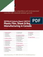 32611CA Plastic Film, Sheet & Bag Manufacturing in Canada Industry Report