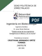 Ingeniería Genética - Legislación de Organismos Transgénicos en México