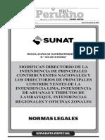 Modifican Directorio de principales contribuyentes 2016