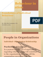 Human Behaviour in Organization