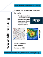 Urban Air Pollution Analysis - India 6 Cities 2011 09 13