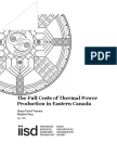 The Full Costs of Thermal Power in Eastern Canada