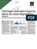 20-07-2016 Para bajar tasas dan a bancos datos de casas disponibles