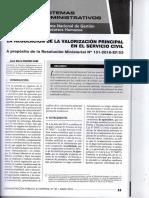 La Regulacion de La Valorizacion Principal en El Servicio Civil - Autor Jose María Pacori Cari080