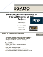 2011_10_spee_houston_allison_Developing Reserve Estimates for CO2 EOR Residual Oil Zone Projects