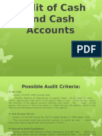 Audit of Cash and Cash Accounts
