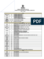 Cronograma de Actividades Del 1er Quimestre 2015-2016