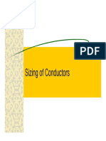 Sizing of Conductors