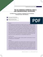 Contribuições Da Liderança Espiritual Para o Desempenho Organizacional Sustentável