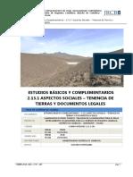 2.13.1.- Tenencia de Tierras y Documentos Legales