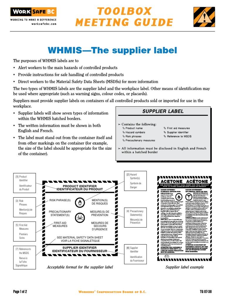 Tg07 38whmissupplierlabel pdf enpdf safety chemistry buycottarizona