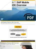 OpenSAP Mobile2 Week 1 Unit 7 SDK Presentation