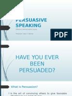 Persuasive Speaking 2