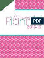 Home School Planner 2015