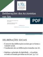 Deliberações dos Accionistas nas SAs