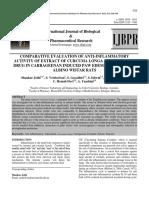 Anti Oksidan Dan Antiinflamasi Curcuma Longa Dengan Xylene