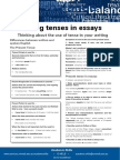 Using Tenses in Essays