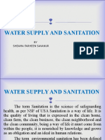 Water supply and sanitation