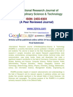International Research Journal of Multidisciplinary Science & Technology