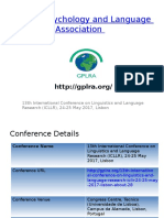 13th International Conference on Linguistics and Language Research (ICLLR), 24-25 May 2017, Lisbon