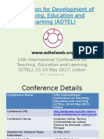 14th International Conference on Teaching, Education and Learning (ICTEL), 23-24 May 2017, Lisbon