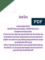 Awal Doa