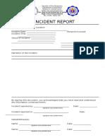 Incident Report Form SCIS