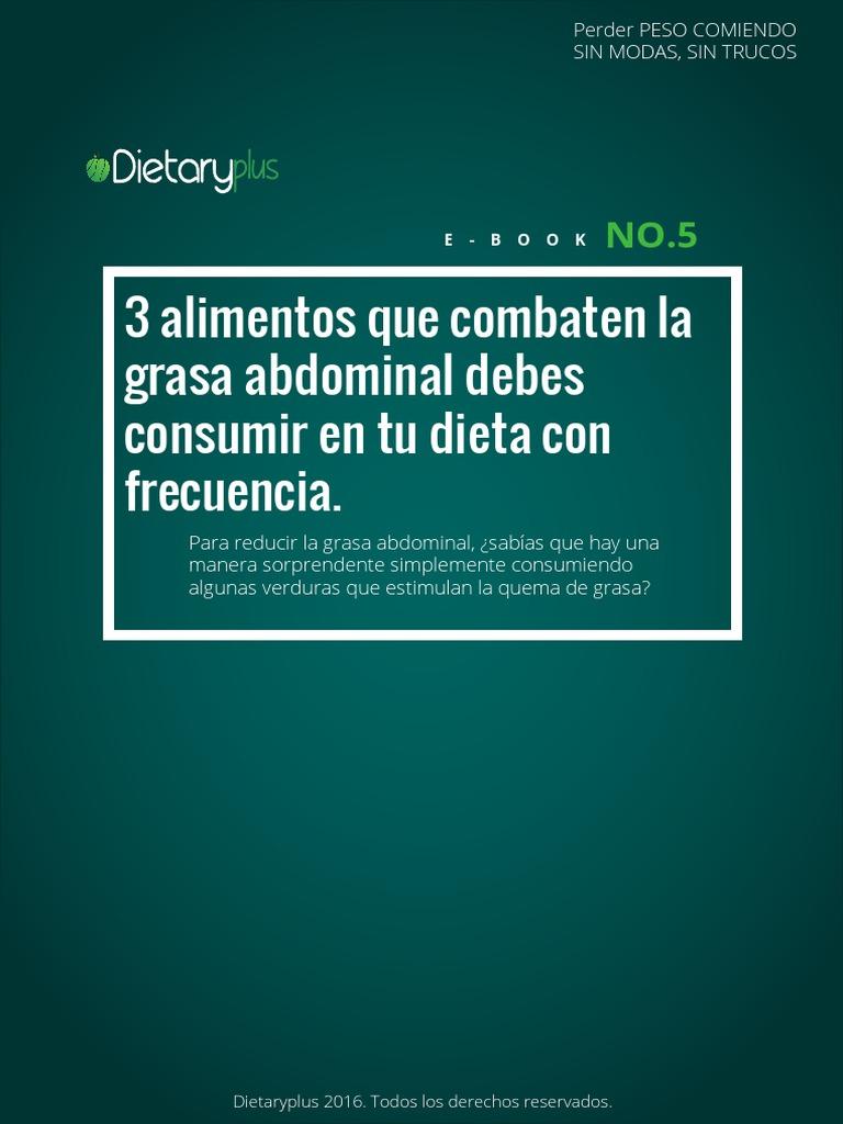 dieta para eliminar la grasa del abdomen