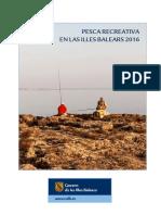 Baleares Cuaderno de pesca marítima recreativa 2016