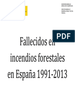 Fallecidos en incendios forestales en España 1991-2013