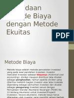 Perbedaan Metode Biaya Dengan Metode Ekuitas