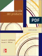 Administración Del Producto, 4ta Edición - Donald R. Lehmann
