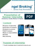 Summer Internship of angel broking
