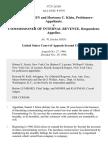 Daniel J. Klein and Hortense C. Klein v. Commissioner of Internal Revenue, 372 F.2d 261, 2d Cir. (1966)