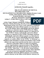 "Mark Komlosi v. The New York State Office of Mental Retardation and Developmental Disabilities, Sheldon Kramer, Louis Ganim, John Sabatos, Robert Witkowsky, Kenneth Brodsky, and James Brennan, Arthur Y. Webb, Elin M. Howe, Ivan Canuteson, George Young, Arthur Fogel, Melanie Fudenberg, William Guzman, Walter Deleone, Charles Deyoung, the City of New York, the Police Department of the City of New York, Salvatore Catalfumo, Individually and in His Official Capacity as a Detective in the Nypd, Robert Merz, Individually and in His Official Capacity as a Detective in the Nypd, Bruce D. Milau, Individually and in His Official Capacity as a Detective in the Nypd, P. Kehoe, Individually and in His Official Capacity as a Detective in the Nypd, Christoper Jackson, Individually and in His Official Capacity as a Detective in the Nypd, Joy E. Garza, Individually and in Her Official Capacity as a Police Officer in the Nypd, ""J. McSeoun a Fictitious Name Intended to Connote the Identity of the Nypd Of"
