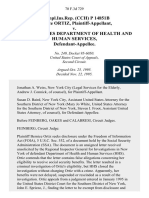 unempl.ins.rep. (Cch) P 14851b Bernice Ortiz v. United States Department of Health and Human Services, 70 F.3d 729, 2d Cir. (1995)