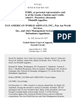 Faith Pescatore, as Personal Representative and Administratrix of the Goods, Chattels and Credits of Michael C. Pescatore, Deceased v. Pan American World Airways, Inc., Pan Am World Services, Inc., and Alert Management Systems, Inc., 97 F.3d 1, 2d Cir. (1996)