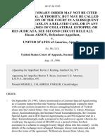 Hasan Aksoy v. United States, 101 F.3d 1393, 2d Cir. (1996)