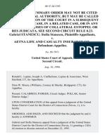Gabriel Stanescu Stella Stanescu v. Aetna Life and Casualty Insurance Co., 101 F.3d 1393, 2d Cir. (1996)