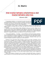 Stalin Materialismo Dialettico Storico