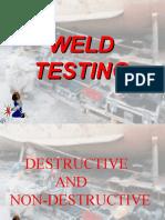 Destructive and Non Destructive Testing