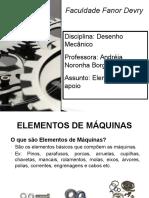 Elementos de Maquina - Elementos de apoio