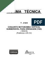 Norma T-218-0 / COPASA
