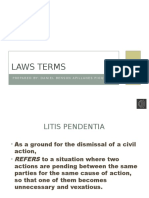 Laws Terms