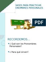 Ppt Pronombre Personal