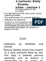 Tort (Lecture 1-8)
