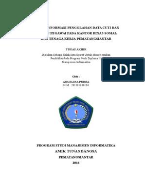 Sistem Informasi Data Cuti Dan Pensiun Pegawai Berbasis Web