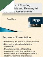 RANDALL DAVIS, How to Create Measurable Speaking Assessments